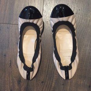 JCrew Cece Patent leather cap toe ballet flats